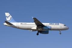 Französische private Landung Airbusses A320 Stockfoto