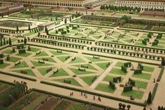 Französische regelmäßige Gartensymmetrieart Lizenzfreie Stockfotos