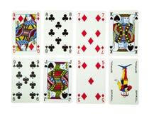Französische Spielkarten lizenzfreie stockfotografie