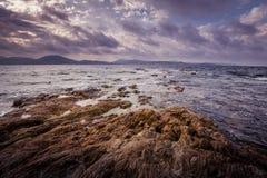 Französische Steinküste Stockfotos