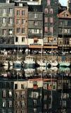 Französische Straße im Fluss Stockbilder