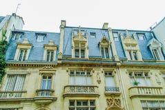 Französische Straße in Paris Lizenzfreies Stockfoto