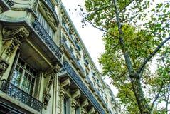 Französische Straße in Paris Stockfotografie