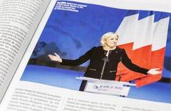Französische Wahl 2017 stockfotos