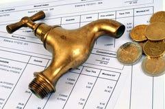 Französische Wasserrechnungen lizenzfreies stockbild