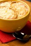 Französische Zwiebelen-Suppe lizenzfreies stockbild