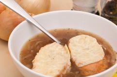 Französische Zwiebelen-Suppe lizenzfreie stockfotografie
