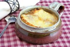Französische Zwiebelen-Suppe Stockbild