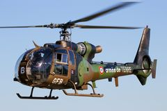 Französischer Armee-Gazellenhubschrauber Lizenzfreies Stockfoto