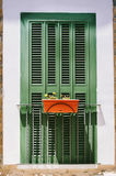 Französischer Balkon mit geschlossenem Fenster Lizenzfreie Stockfotografie