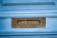 Französischer Briefkasten der Weinlese Stockfotos