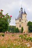 Französischer Chateaukontrollturm Stockfotos