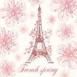Französischer Frühlingsvektorhintergrund Lizenzfreies Stockbild