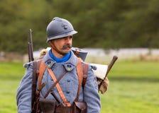 Französischer Infanterie-Soldat von WW1 stockbilder