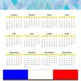 Französischer Kalender 2017 Vektor Abbildung