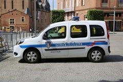 Französischer Polizeiwagen lizenzfreie stockfotos