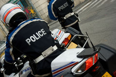 Französischer Polizist Stockfoto