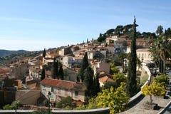 Französischer Riviera-Dorf Stockfotos