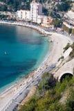 Französischer Riviera-Küstenlinie Lizenzfreie Stockfotos