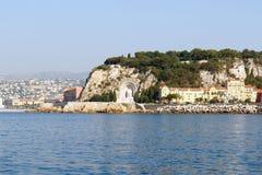Französischer Riviera-Küstenlinie Stockbilder