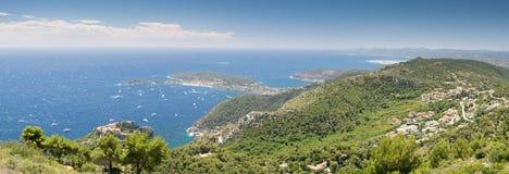 Französischer Riviera-Küstenlinie Stockbild