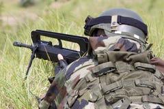 Französischer Soldat Stockfotografie