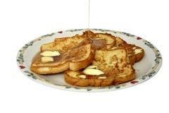 Französischer Toast über Weiß stockbild