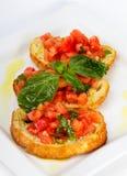Französischer Toast mit Tomaten Lizenzfreie Stockfotografie