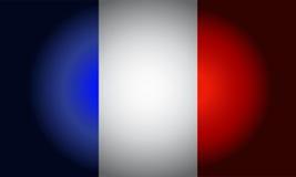Französischer Vektor der schwarzen Flagge Stockfotos