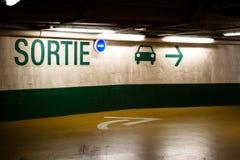 Französisches Ausgangs-Zeichen Stockbild