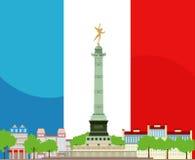 Französisches Bastille-Design Stockbilder