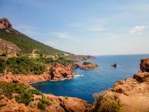 Französisches Blau-Bucht Stockfotografie