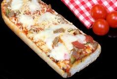 Französisches Brot-Pizza Lizenzfreie Stockfotografie