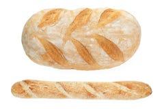 Französisches Brot und Stangenbrot Stockfotos