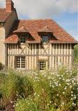 Französisches Colombage Haus Lizenzfreies Stockbild