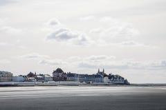 Französisches Dorf von Le Crotoy stockbild