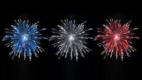 Französisches Feuerwerk lizenzfreie abbildung