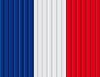 Französisches Flaggendesign Lizenzfreie Abbildung