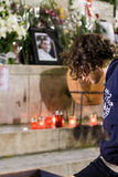 Französisches Gebläse stirbt nachdem Rowdyangriff Stockbilder