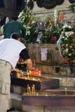 Französisches Gebläse stirbt nachdem Rowdyangriff Stockfotografie