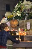 Französisches Gebläse stirbt nachdem Rowdyangriff Stockbild