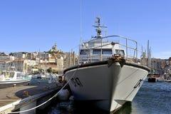 Französisches Gewohnheitsboot Stockfotografie