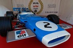 Französisches historisches Grand Prix gedenkt 50 Jahre Weltdes meister-Titels Matra F1 stockfoto