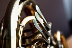 Französisches Horn Dreh oder Knöpfe Lizenzfreie Stockfotos