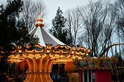 Französisches Karussell im Park Lizenzfreie Stockfotos