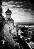Französisches mittelalterliches castel lizenzfreie stockbilder
