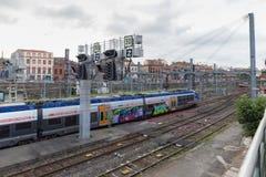 Französisches nationales Bahnnetz in Toulouse Stockfotografie