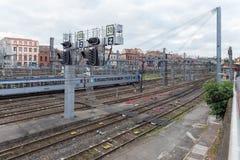 Französisches nationales Bahnnetz in Toulouse Lizenzfreie Stockbilder