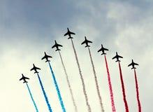 Französisches Patrouille De Frankreich Stockfotos