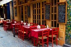 Französisches Restaurant Stockfotos